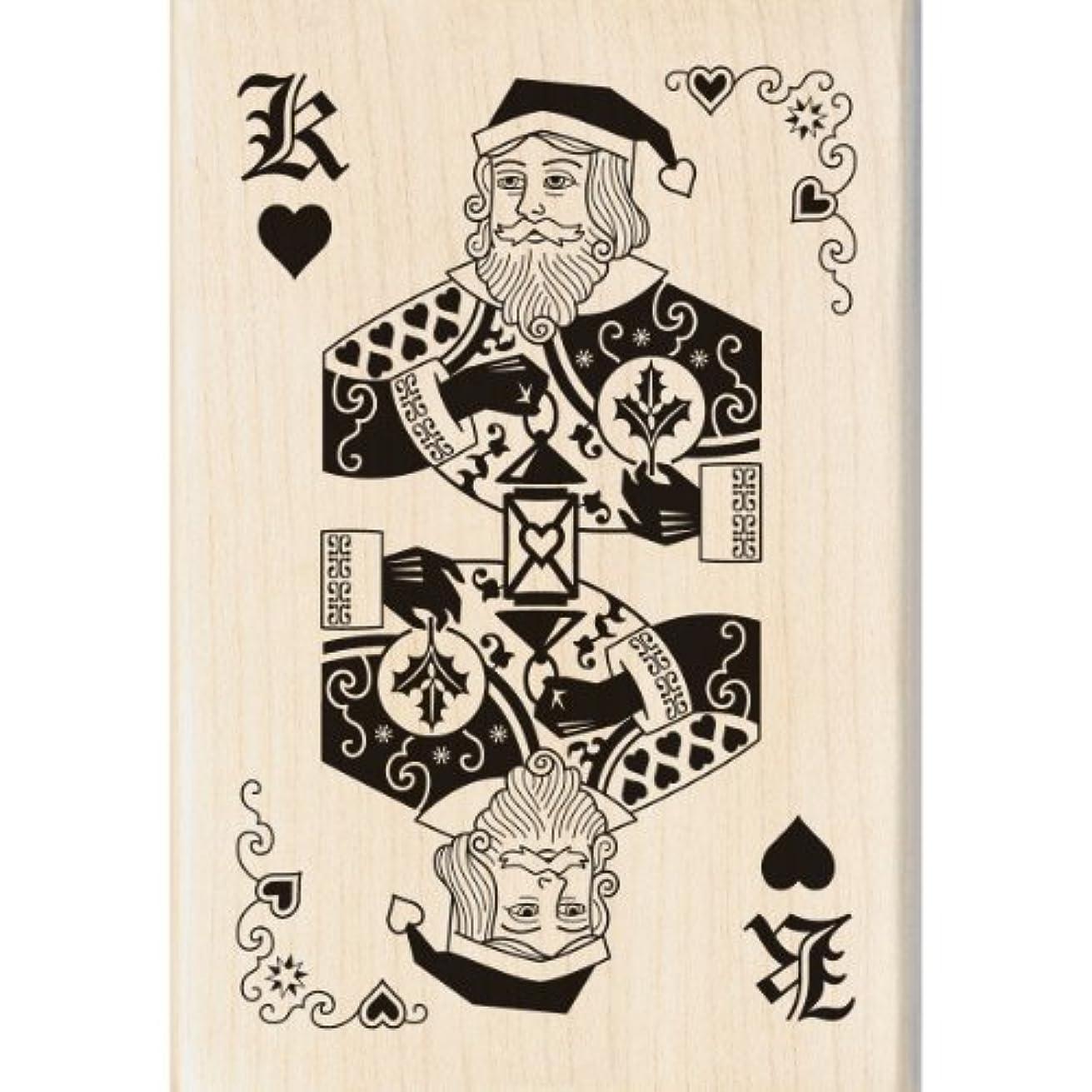 Inkadinkado Wood Stamp, Santa Card