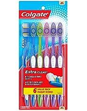 فرشاة أسنان اكسترا كلين من كولجيت، رأس كامل، ناعمة، 6 قطع