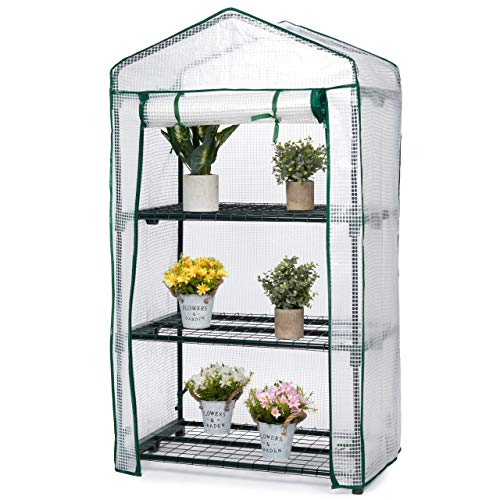 Bramble - 3 Tier Mini Gardening Greenhouse with Wire Shelves - Easy to Assemble