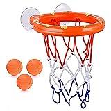 YLWZZ Juguete de baño divertido de baloncesto, bañera, juego para niños pequeños, niñas, Hoop Balls Set para niños pequeños, juguetes de baño para bebés pequeños