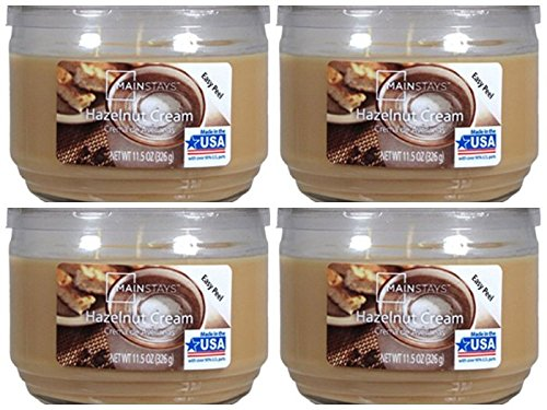 Mainstays 11.5oz Scented Candle, Hazelnut Cream 4-pack