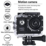 Garciayia Fotocamera Impermeabile da 2.0 Pollici Dual Screen WiFi Sports DV Action Camera (Colore:...