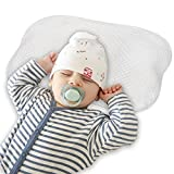 Newborn Pillow, Baby Pillow Flat Head, Infant Sleeping Pillow, Soft Memory Foam Baby Head Shaping Pillow Prevent Infant Flat Head