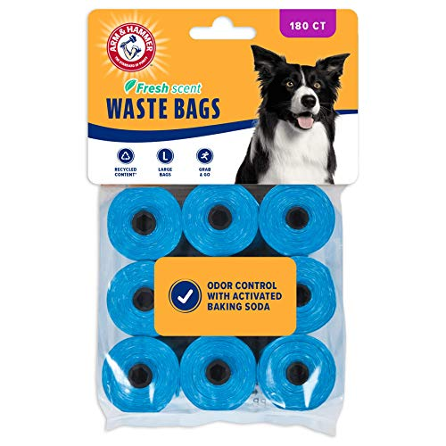 Arm amp Hammer EasyTear Disposable Waste Bag Refills Assorted Colors Various Multipacks Available Blue 180pack