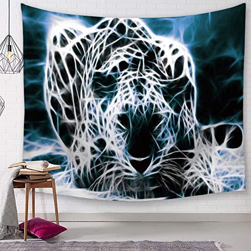 MMHJS Estilo Europeo Elefante Tigre Tela Colgante Impresión 3D Digital Decoración De Moda Tela De Fondo Sala De Estar Dormitorio Cabecera Dormitorio Cama Y Desayuno Tapiz