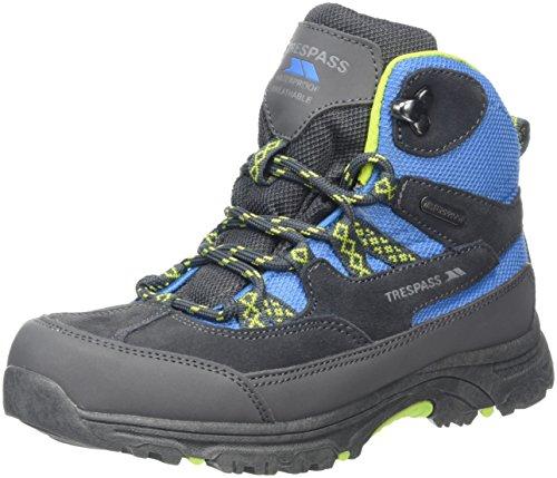 Trespass Cumberbatch, Chaussures de Randonnée Hautes Garçon Mixte Enfant, Bleu (Cobalt Kiwi), 31 EU