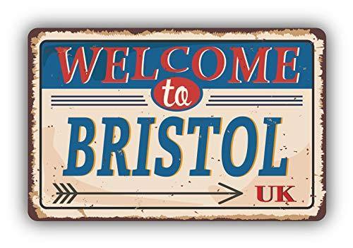 Bristol City United Kingdom Retro Vintage Emblem - Self-Adhesive Sticker Car Window Bumper Vinyl Decal Hochwertiger Aufkleber