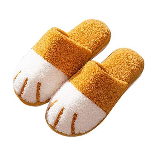Zoloyo Zapatillas para el hogar, con diseño de huellas de gato