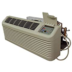 Amana hotel/motel syle PTAC air conditioner 15,000 BTU through the wall air conditioner Amana 15K BTU Packaged Terminal Air Conditioner model PTC153G35AXXX with 3.5kW heatstrip included Features a Digismart control board for energy savings 5 year lim...