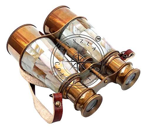Hanzla Collection Vintage Nautical Fernglas Messing Antik Stil 15 cm