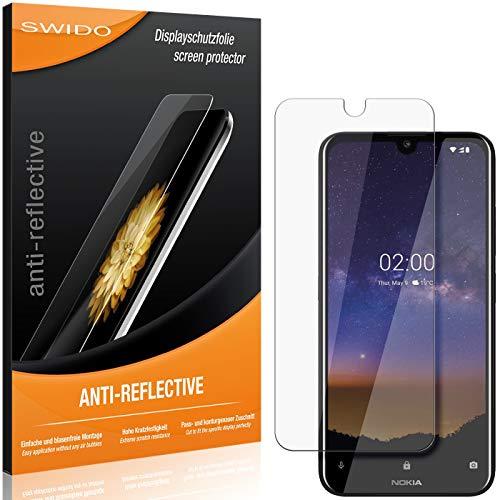 SWIDO Schutzfolie für Nokia 2.2 [2 Stück] Anti-Reflex MATT Entspiegelnd, Hoher Festigkeitgrad, Schutz vor Kratzer/Folie, Bildschirmschutz, Bildschirmschutzfolie, Panzerglas-Folie