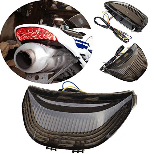 Clignotant de feu arrière adapté pour Hon da CBR 1000 RR 2004-2007 CBR 600 RR 2003-2006 Témoin de Moto feu arrière(Fumée)