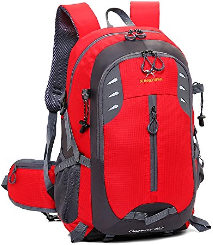 LIUFENGLONG Mountaineering Bags, LargeCapacity Outdoor Travel Backpack for Men and Women Wilderness Backpack Waterproof Backpack Outdoor Leisure Travel Backpack LIUFENGLONG (color   Red)