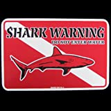 Shark ACHTUNG Tauchen Dive Flagge Schild Do not enter