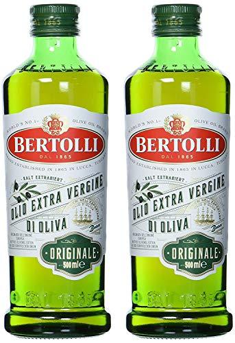 Bertolli Natives Olivenöl Extra Originale, mit Aromen aus grüner Mandeln, Gemüse, Tomate und Artischocke, hochwertiges Olivenöl, 2er Set (2 x 500 ml)