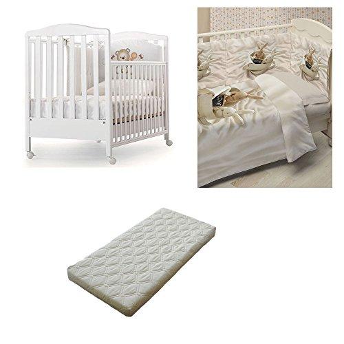 Lit en bois Azzura Design Web + couette Photo Tour de lit taie d'oreiller sous Drap + matelas déhoussable anti-acariens Bunnies In Love