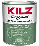 KILZ Odorless Interior Oil-Base Primer/Sealer/Stainblocker, White, 1-Quart