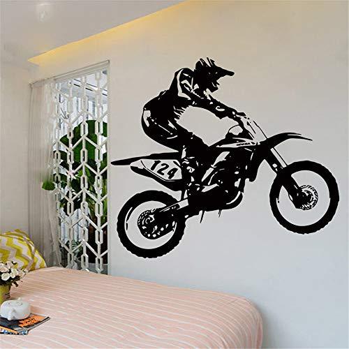 wandaufkleber baum mit fotos Motorrad Bewegung für Sport Zimmer Aufkleber Schlafzimmer Jungen Dekoration