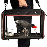 LIGHTWEIGHT AND PORTABLE: Weighing only 1.5 kg, it lets you easily sling it on your shoulder or by its handle. The most fashionable cage for taking your bird to the vet or other places. CLEAR VIEW DESIGN offers wider field of vision, reducing the pet...