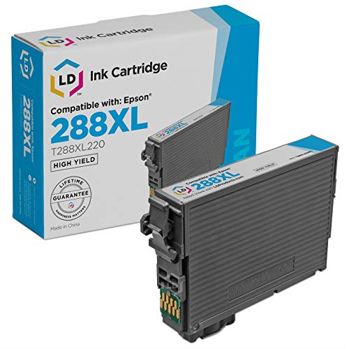LD Remanufactured Ink Cartridge Replacement for Epson 288XL T288XL220 High Yield (Cyan)