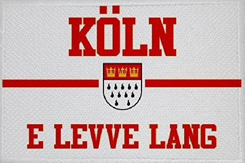 U24 Aufnäher Köln e Leve lang Fahne Flagge Aufbügler Patch 9 x 6 cm