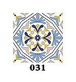 15 unids/set Azulejos de piso Diagonal Etiqueta de la pared Escritorio Cocina Decoración Arte Mural Baño Azulejo de vidrio Cintura Línea PVC DIY Tatuajes de pared-DP031-15cmX15cmX15PCS