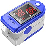 Pulse Oximeter Fingertip, Blood Oxygen Saturation Monitor with Pulse, Oximeter Finger Oxygen Readings, Accurate, Heart Rate and Fast Spo2 Reading Oxygen Meter, Portable, with Lanyard and Batteries