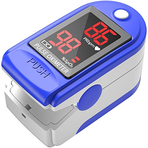 Finger Oximeter with Pulse, Fingertip Pulse Oximeter with Respiration, Portable Blood Oxygen Saturation Monitor with Pulse, 1 * Spo2 Sensor, 1 * Lanyard and 2 * Batteries