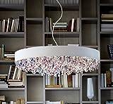 Olà masiero lampadario bianco realizzato a mano, Made in Italy, Italiano in vetro, Metallo, Durchmesser 90 / LED Nein / Farbe Mat White + Cold Colors, E27 60.00 wattsW