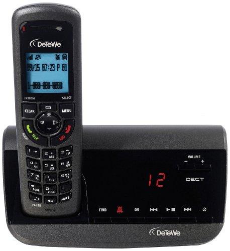 DeTeWe BeeTel 950 Schnurloses DECT-Telefon für die Ultra-Range-Serie mit digitalem Anrufbeantworter inkl. ECO-Mode
