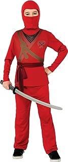 Rubie's Ninja Child's Costume, Red, Small