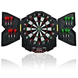 COSTWAY Electronic Dartboard Electronic Target for 8 Players LED Display 27 Games 216 Variations 12 Darts 47 x 54, 6 x 3 cm
