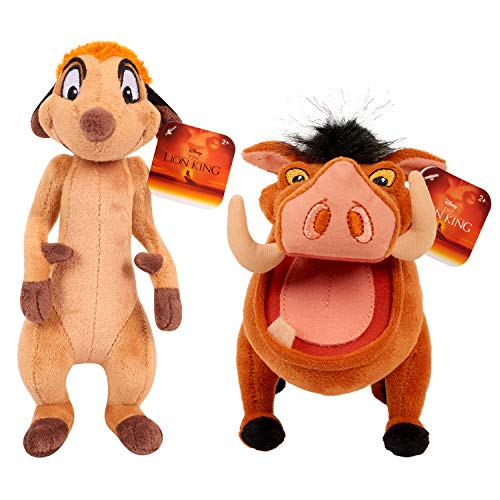 Disney The Lion King - Timon and Pumba - Set of 2 Small Plush Figures 8 Inch