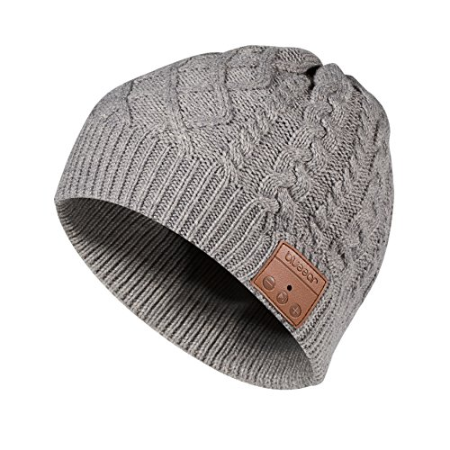 Bluetooth Beanie Hat Bluetooh 5.0 Headphone blueear Wireless Winter Knit Hats with Stereo Speaker and MIC 8 Hours Working Time for Outdoor Sports