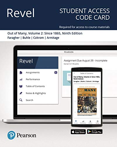 Revel for Out of Many: A History of the American People, Volume 2 -- Access Card (9th Edition)