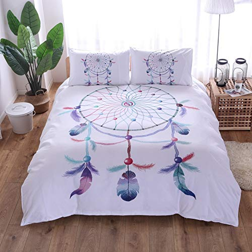 BH-JJSMGS Bedding with golden mandala print, exotic wind chimes, with pillowcase, lightweight microfiber quilt cover, with zipper, 200 * 200 (three-piece set) F