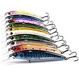 Aozzy Decoy Set de 10 leurres Appât de pêche aux leurres pour les poissons prédateurs pour le brochet