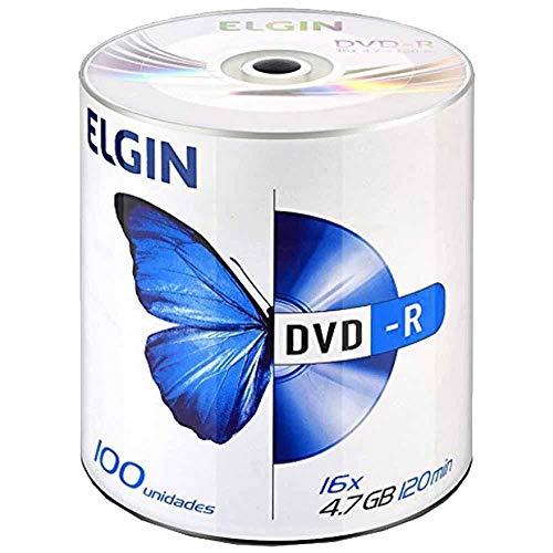 Dvd Gravável, Elgin, Dvd-R, 4,7gb, 120 Minutos, 16x, Tubo com 100