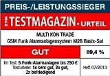 GSM Funk-Alarmanlage Set von Multi Kon Trade I Alarmanlage Komplettsystem M2B SET-4 I Funk Alarmanlage mit Bewegungsmelder, Tür- und Fensterkontakt, Fernbedienung, externe Sirene und App Steuerung - 3