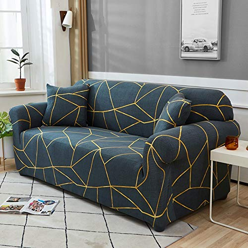 Funda de sofá Funda de sofá elástica geométrica para Sala de Estar Sofá de Esquina seccional Moderno Funda de sofá Funda de sofá Protector de Silla A17 4 plazas