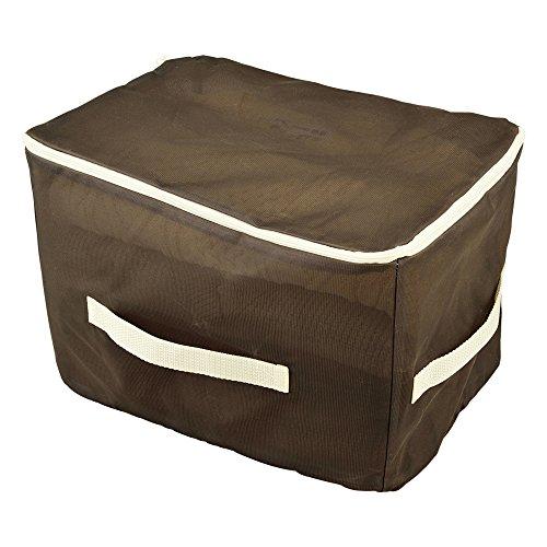 ダイヤコーポレーション 洗濯できる収納袋衣類用 ブラウン 25x25x37cm