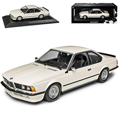B-M-W 6er 635 CSI E24 Coupe Weiss 1975-1989 limitiert 1 von 504 Stück 1/18 Minichamps Modell Auto mit individiuellem Wunschkennzeichen