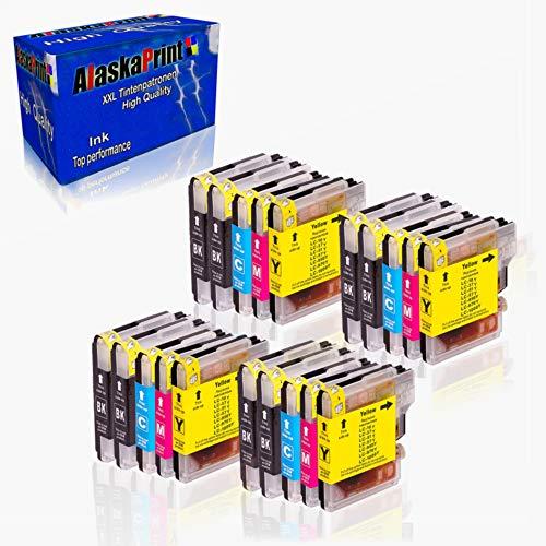 Alaskaprint 20x Druckerpatronen Kompatibel für Brother LC1000 LC-1000 XL für Brother dcp 135c patronen DCP-135C 150C 153C 157C MFC-235C MFC-260C 130C 330C 330CN 350C 350CJ 353C 357C 525C 525CJ