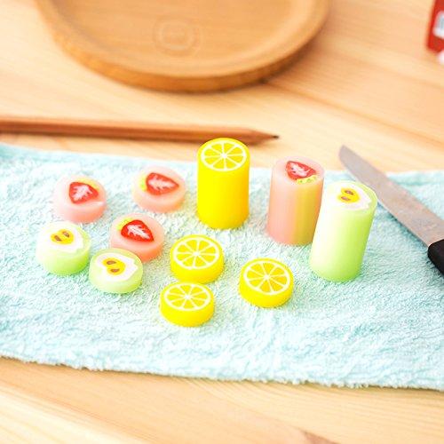 4 pcs/Lot gomme à effacer 2B couleur fraise citron gomme crayon gommes de bureau fournitures scolaires gomas de borrar A6385