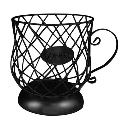 Sailsbury Multifunktionales Aufbewahrungsregal Becher-fassenförmiges Anti-Rost-Kaffeepadhalter-Aufbewahrungsregal für die Kaffeebar-Küche,Storage Rack