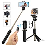 Selfie Stick Tripod with Remote and 1/4 Camera Mount Holder for Gopro Camera