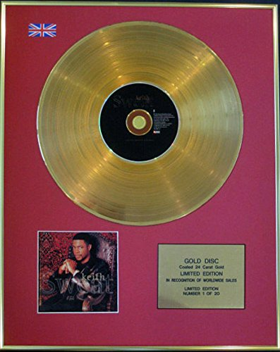 Century Music Awards Keith Sweat – Ltd Edition CD 24 Karat Gold Disc – Keith Sweat