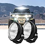 LED Fog Round Lights 2PCS 7 Inch 105W Waterproof Replacement Foglights Driving Fog Lamps Roof Offroad Light Bar for Jeep SUV Truck Hunters