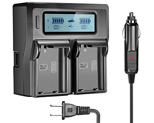 EN-EL15 EN-EL15A Dual LCD Battery Charger for Nikon DSLR D810, D750, D7200, D7100, D7000, D800E, D800, D610, D600, Nikon 1 V1 Digital Cameras …