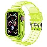 WIIKAI - Correa de repuesto compatible con reloj Apple Watch 3, 4, 5 y 6, de 38, 40, 42 y 44 mm, Ama...